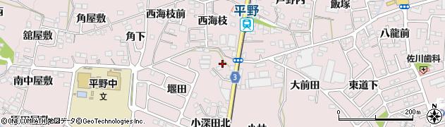 福島県福島市飯坂町平野(堂天前)周辺の地図