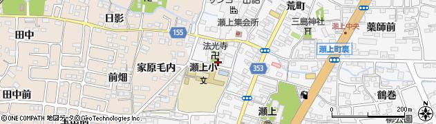 福島県福島市瀬上町(一ノ坪)周辺の地図