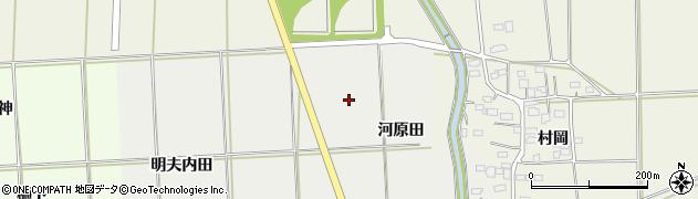 福島県伊達市保原町所沢(河原田)周辺の地図