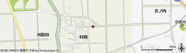 福島県伊達市保原町(村岡)周辺の地図