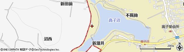 福島県伊達市保原町上保原(新溜井)周辺の地図
