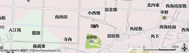福島県福島市飯坂町平野(舘西)周辺の地図