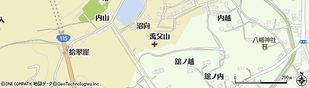 福島県伊達市保原町上保原(禹父山)周辺の地図