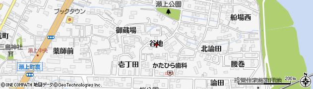 福島県福島市瀬上町(谷地)周辺の地図