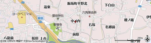 福島県福島市飯坂町平野(中ノ内)周辺の地図