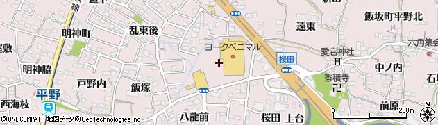 福島県福島市飯坂町平野(上前田)周辺の地図