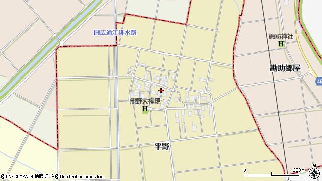 〒959-0431 新潟県新潟市西蒲区平野の地図