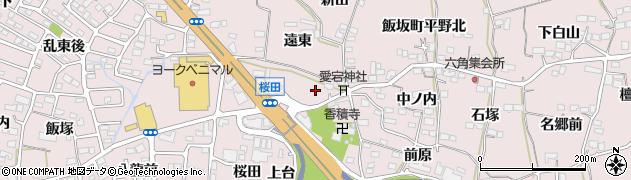 福島県福島市飯坂町平野(六角)周辺の地図