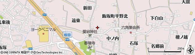 福島県福島市飯坂町平野(東六角)周辺の地図