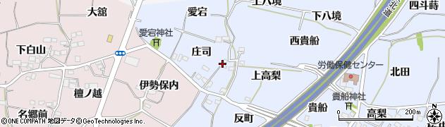 福島県福島市沖高(上高梨)周辺の地図