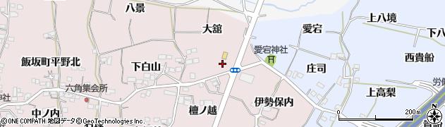 福島県福島市飯坂町平野(檀ノ脇)周辺の地図