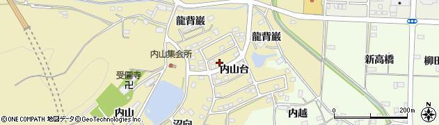 福島県伊達市保原町上保原(内山台)周辺の地図