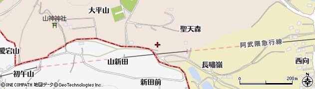 福島県伊達市箱崎(聖天森)周辺の地図