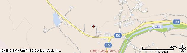 福島県伊達市霊山町山野川(沼ノ江)周辺の地図