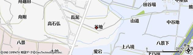 福島県福島市飯坂町(谷地)周辺の地図