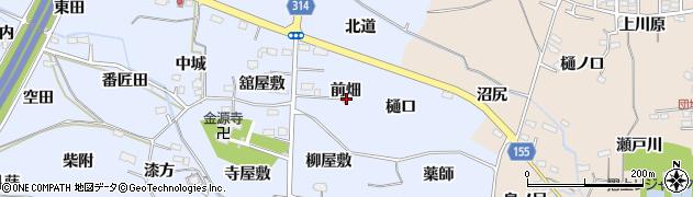 福島県福島市下飯坂(前畑)周辺の地図