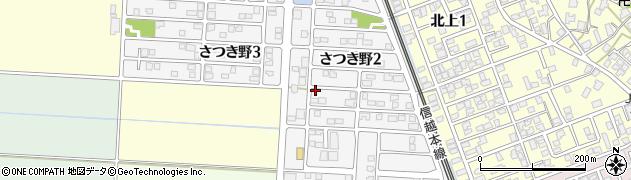 新潟県新潟市秋葉区さつき野周辺の地図