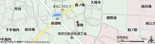 福島県福島市大笹生(薬師)周辺の地図