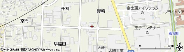 福島県伊達市保原町(野崎)周辺の地図