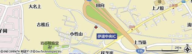 福島県伊達市保原町上保原(仏供田)周辺の地図