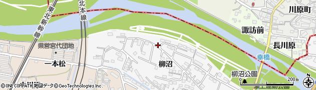 福島県福島市瀬上町(柳町)周辺の地図