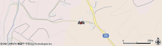 福島県伊達市霊山町山野川(赤坂)周辺の地図