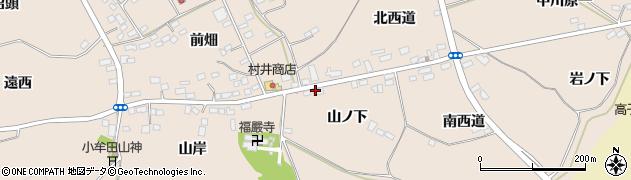 福島県伊達市箱崎(山ノ下)周辺の地図