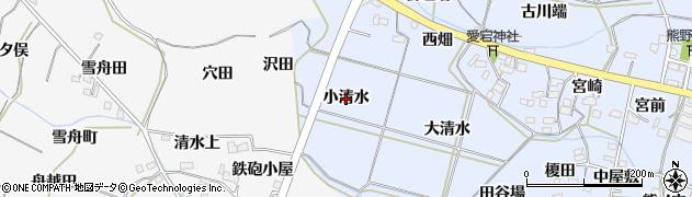 福島県福島市下飯坂(小清水)周辺の地図