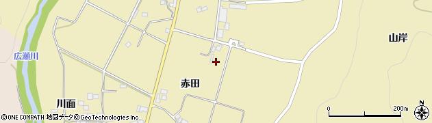福島県伊達市霊山町泉原(赤田)周辺の地図