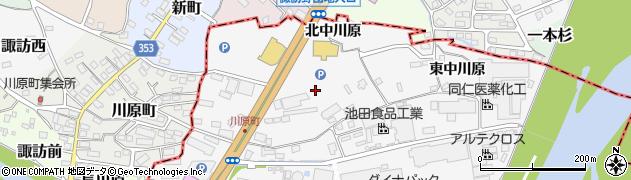 福島県福島市瀬上町(西中川原)周辺の地図