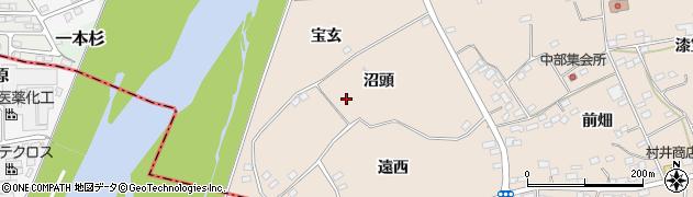 福島県伊達市箱崎(沼頭)周辺の地図