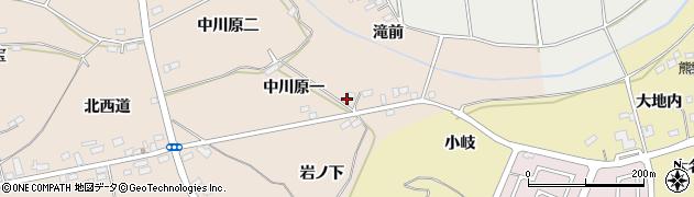 福島県伊達市箱崎(中川原一)周辺の地図