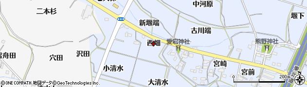福島県福島市下飯坂(西畑)周辺の地図