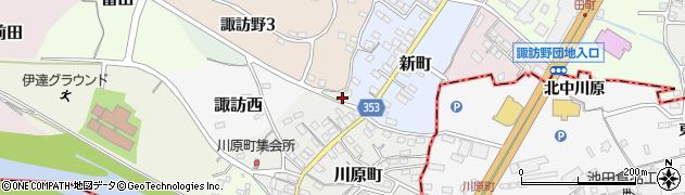 福島県伊達市菅田周辺の地図