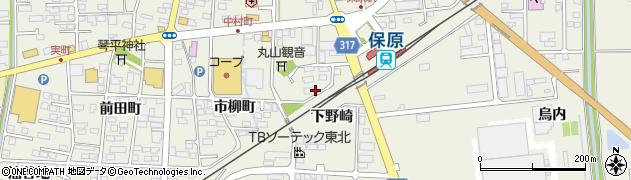 福島県伊達市保原町(下野崎)周辺の地図
