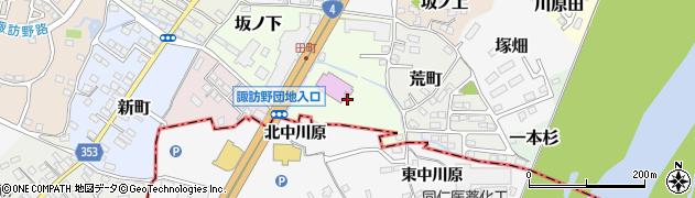 福島県伊達市姥ケ懐周辺の地図