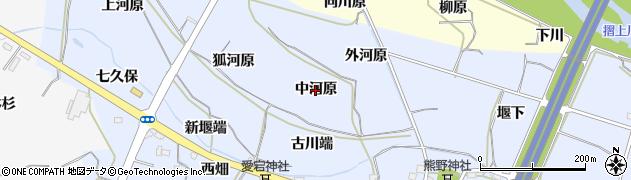 福島県福島市下飯坂(中河原)周辺の地図
