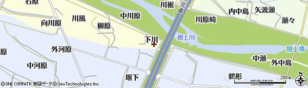 福島県福島市飯坂町湯野(下川)周辺の地図