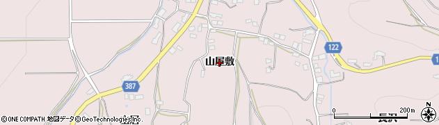 福島県伊達市保原町金原田(山屋敷)周辺の地図