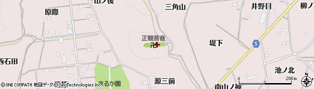 福島県福島市飯坂町平野(三角山)周辺の地図