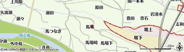 福島県福島市飯坂町東湯野(馬場)周辺の地図