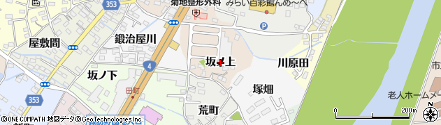 福島県伊達市坂ノ上周辺の地図