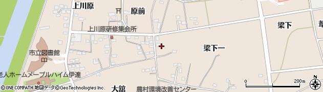 福島県伊達市箱崎(中道)周辺の地図
