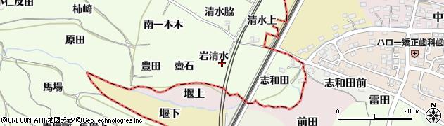 福島県福島市飯坂町東湯野(岩清水)周辺の地図