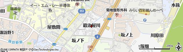福島県伊達市鍛治屋川周辺の地図