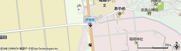 野地城周辺の地図