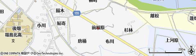 福島県福島市飯坂町(前川原)周辺の地図