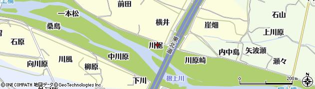 福島県福島市飯坂町湯野(川裾)周辺の地図