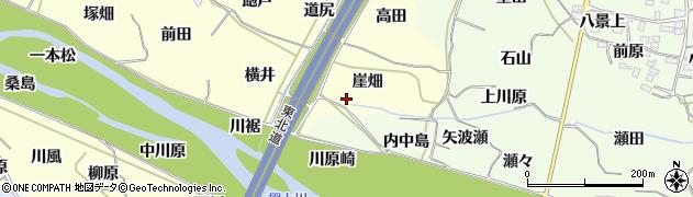 福島県福島市飯坂町湯野(崖畑)周辺の地図