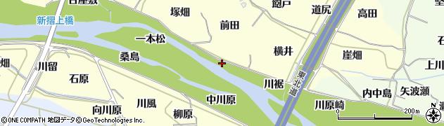 福島県福島市飯坂町湯野(中川原)周辺の地図